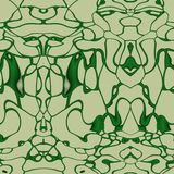 Seamless ornament  pattern in abstract style. Seamless abstract pattern in dark green and beige tones Stock Photography