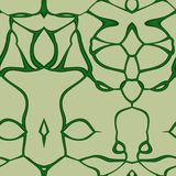 Seamless ornament  pattern in abstract style. Seamless abstract pattern in dark green and beige tones Stock Photo