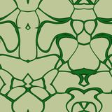Seamless ornament  pattern in abstract style. Seamless abstract pattern in dark green and beige tones Royalty Free Stock Images