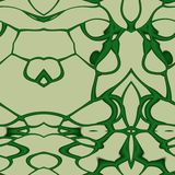 Seamless ornament  pattern in abstract style. Seamless abstract pattern in dark green and beige tones Stock Images