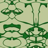 Seamless ornament  pattern in abstract style. Seamless abstract pattern in dark green and beige tones Royalty Free Stock Photos