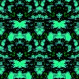 Seamless ornament pattern in abstract style. Seamless abstract pattern in green and black tones vector illustration