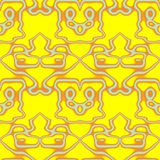 Seamless ornament  pattern in abstract style. Seamless abstract pattern in orange, yellow and grey tones Royalty Free Stock Photo
