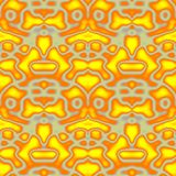 Seamless ornament  pattern in abstract style. Seamless abstract pattern in orange, yellow and grey tones Stock Image