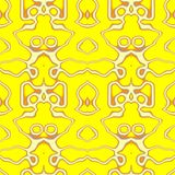 Seamless ornament  pattern in abstract style. Seamless abstract pattern in orange, yellow and grey tones Royalty Free Stock Image