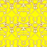 Seamless ornament  pattern in abstract style. Seamless abstract pattern in orange, yellow and grey tones Royalty Free Stock Images
