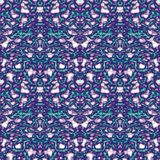 Seamless ornament pattern in abstract style. Seamless abstract pattern in purple, beige and green tones royalty free illustration