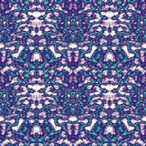 Seamless ornament pattern in abstract style. Seamless abstract pattern in purple, beige and green tones vector illustration