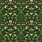 Seamless ornament pattern in abstract style. Seamless abstract pattern in purple, beige and green tones stock illustration