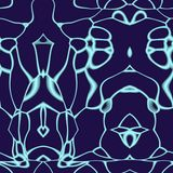 Seamless ornament  pattern in abstract style. Seamless abstract pattern in royal blue and cyan tones Stock Photography