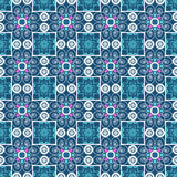 Seamless ornament pattern background with decorative elements Stock Photo