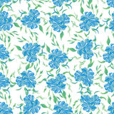 Seamless ornament pattern with flowers Stock Photo