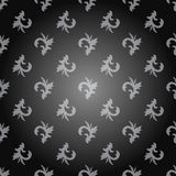 Seamless ornament pattern with light gray on a dark gray background. Vector Royalty Free Stock Photos