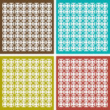 Seamless ornament pattern set Royalty Free Stock Image