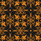 Seamless ornament pattern -  vector. Gold decoration seamless ornament pattern, vector background fully editable, you can change form and color Stock Images