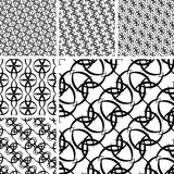 Seamless ornament patterns Stock Photo