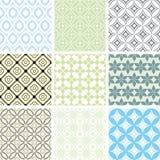 Seamless ornament patterns Stock Photos