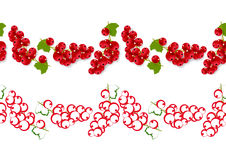 Seamless ornament with red currants Royalty Free Stock Photos