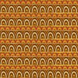 Seamless ornament from red yellow and brown color circles Royalty Free Stock Photography