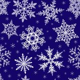 Seamless ornament with snowflakes Stock Image