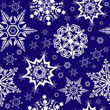 Seamless ornament with snowflakes Royalty Free Stock Photos