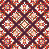 Seamless  ornament squares on a diagonal Royalty Free Stock Image