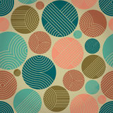 Seamless ornament with striped circles Stock Image