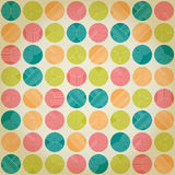 Seamless ornament with striped circles Royalty Free Stock Photography