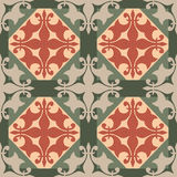 Seamless ornament texture pattern on green Stock Photos