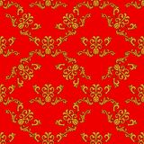 Seamless ornament vector pattern for disign Royalty Free Stock Photography