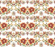 Seamless Ornament Wallpaper. Seamless ornamental wallpaper with floral details Royalty Free Stock Photography