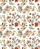 Seamless Ornament Wallpaper. Seamless ornamental wallpaper with floral details Royalty Free Stock Photos