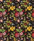 Seamless Ornament Wallpaper. Seamless ornamental wallpaper with floral details Stock Image