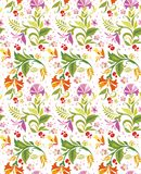 Seamless Ornament Wallpaper. Seamless ornamental wallpaper with floral details Stock Images
