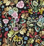 Seamless Ornament Wallpaper. Seamless ornamental wallpaper with floral details Royalty Free Stock Photo