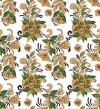 Seamless Ornament Wallpaper. Seamless ornamental wallpaper with floral details Stock Photography