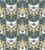 Seamless Ornament Wallpaper. Seamless ornamental wallpaper with vintage details Stock Photo