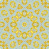 Seamless ornament yellow orange on gray Stock Images