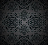 Seamless ornamental abstract pattern. In grey and black colors Stock Photography
