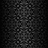 Seamless ornamental black Wallpaper Stock Images