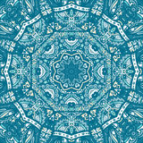 Seamless ornamental Blue winter background Royalty Free Stock Images