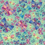 Seamless ornamental  butterfly fresh pattern Stock Image