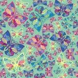 Seamless ornamental butterfly fresh pattern Vector Illustration