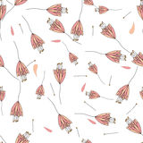 Seamless ornamental florals pattern background Royalty Free Stock Photo