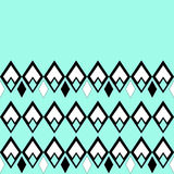 Seamless ornamental geometrical pattern in turquoise Stock Photo