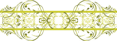 Seamless ornamental green border Stock Image
