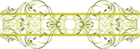 Seamless ornamental green border. Illustration vector illustration