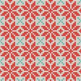 Seamless Ornamental knitting pattern Royalty Free Stock Photo