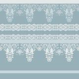 Seamless ornamental lace pattern background. Seamless ornamental lace pattern on blue background Stock Photography