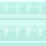 Seamless ornamental lace pattern background. Seamless ornamental lace pattern on green background Stock Photo